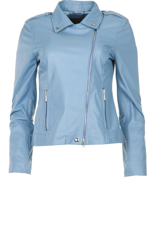 Afbeelding van Arma Leren jas sky blue