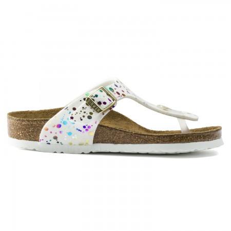 Birkenstock Slipper girls gizeh confetti white narrow-schoenmaat 30