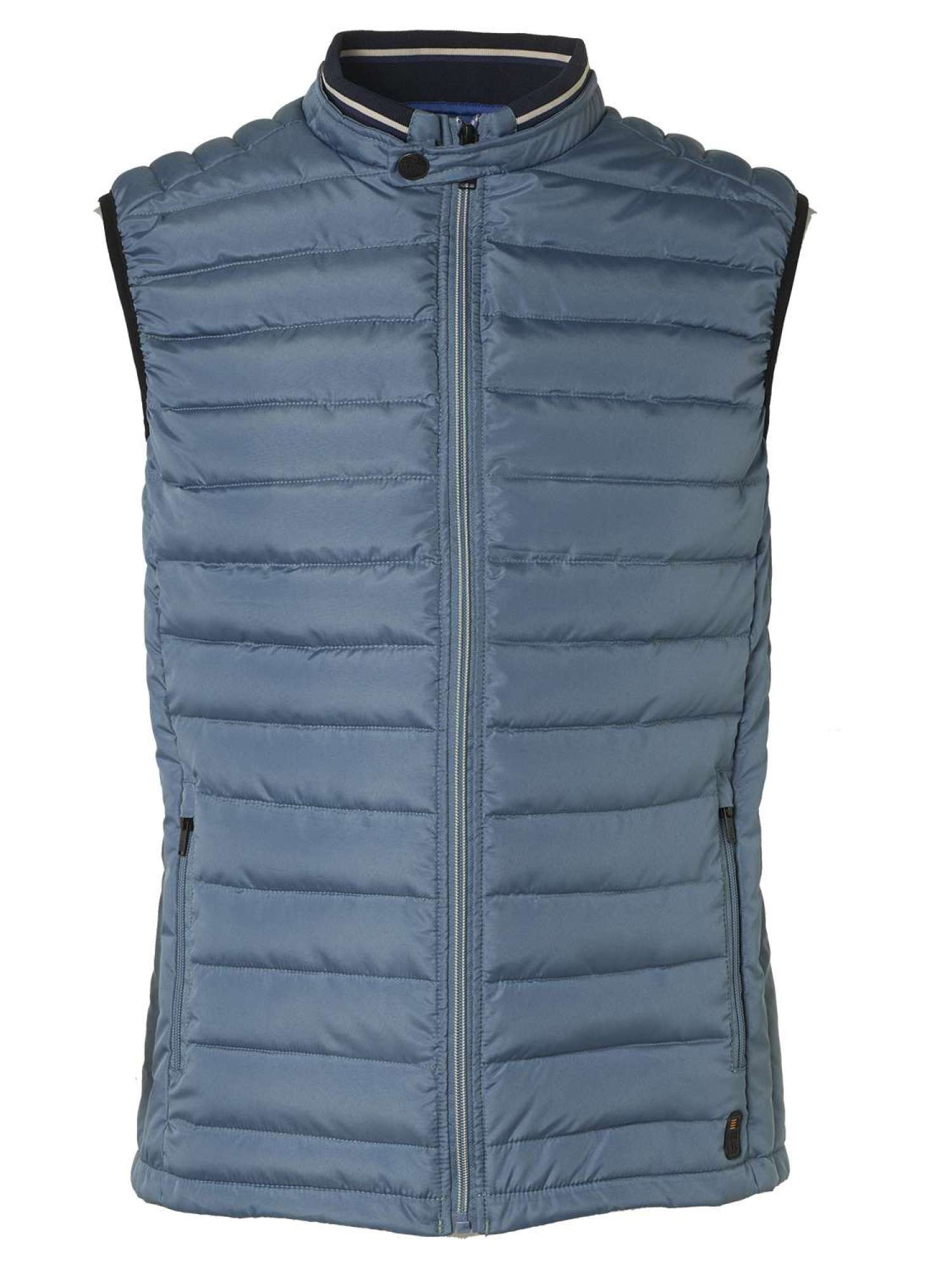 No Excess Bodywarmer,dull nylon, padding, fan steel