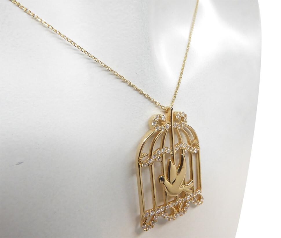 Christian Gouden zirkonia vogelkooi hanger online kopen