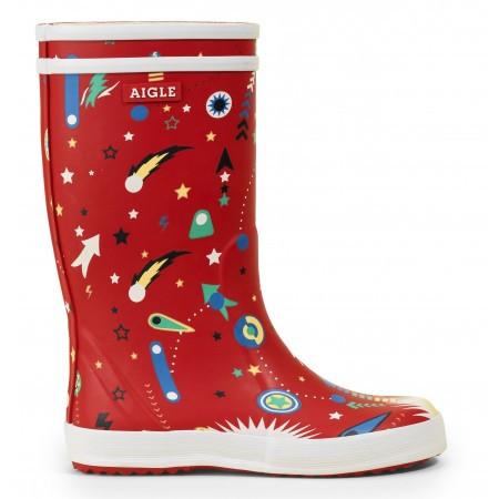 Aigle Regenlaars kids lolly pop fun rouge flipper-schoenmaat 28