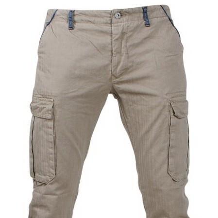 Afbeelding van Biaggio Jeans Trendy heren worker lengte 34 tigom beige