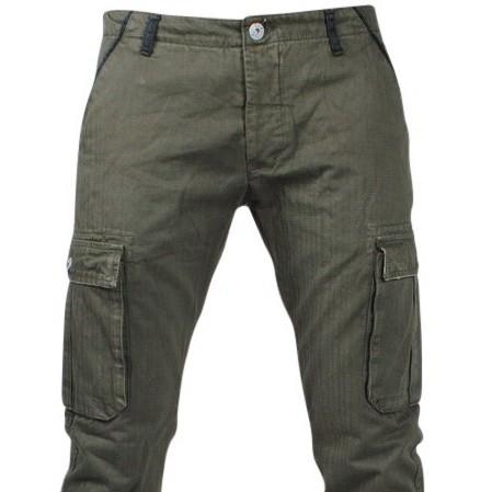 Afbeelding van Biaggio Jeans Trendy heren worker lengte 34 tigom groen