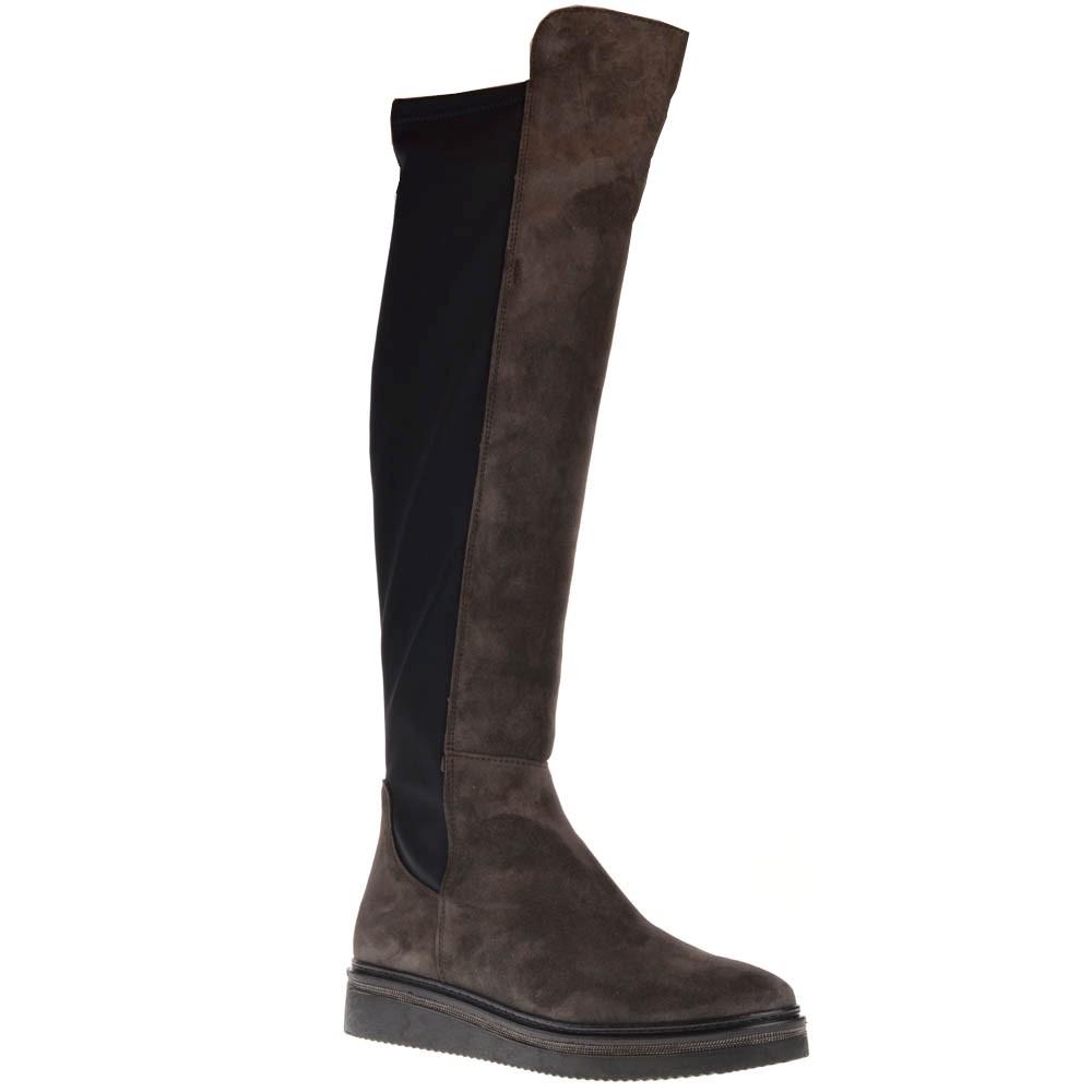 Afbeelding van Alpe Overknee laarzen antracite bruin