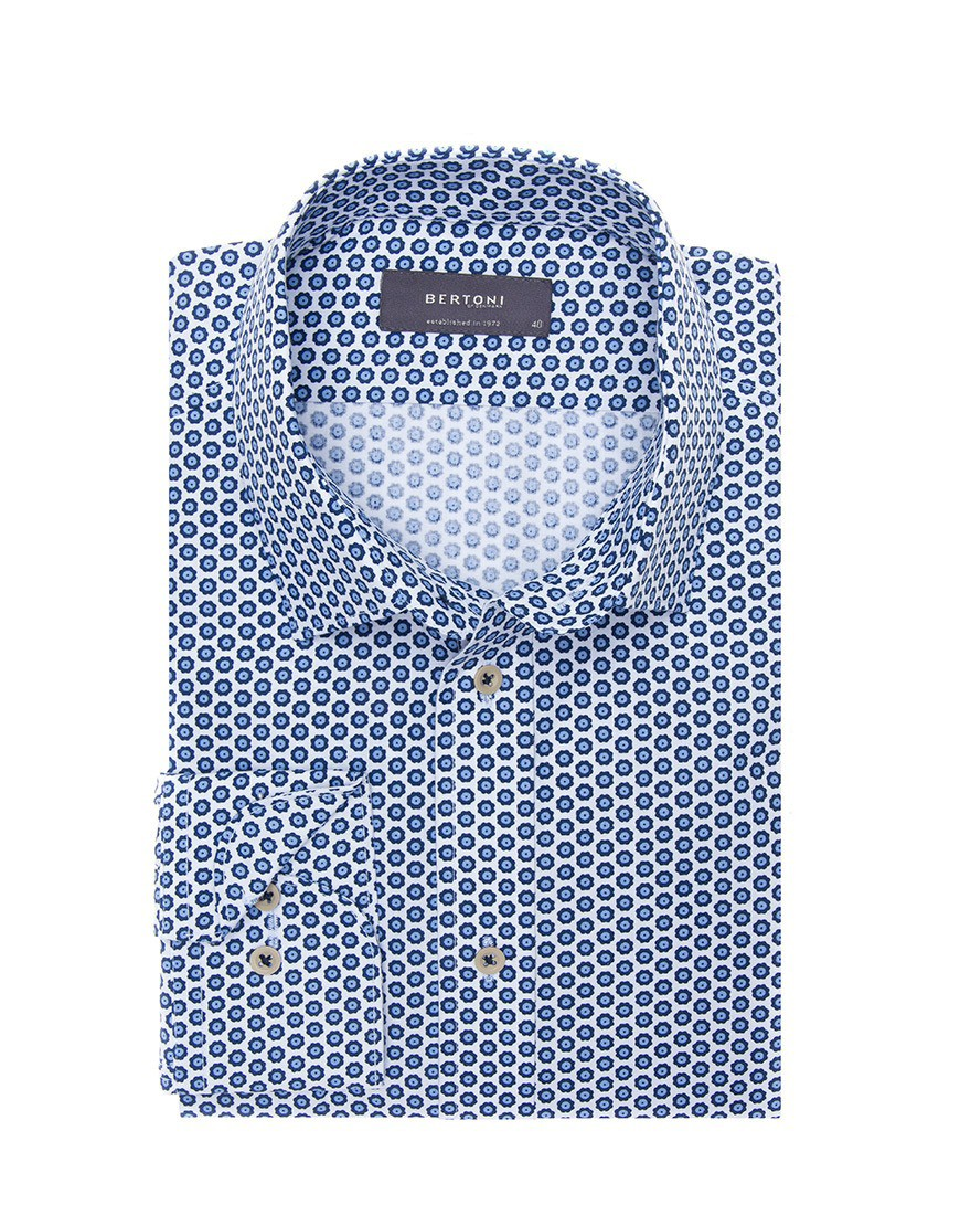 Afbeelding van Bertoni of Denmark Overhemd oskar blue blauw