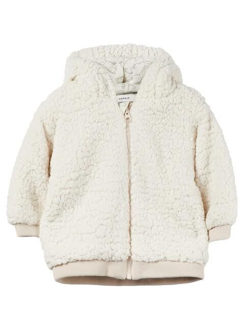 Afbeelding van Name It Nbnmiffi teddy jacket uni wit