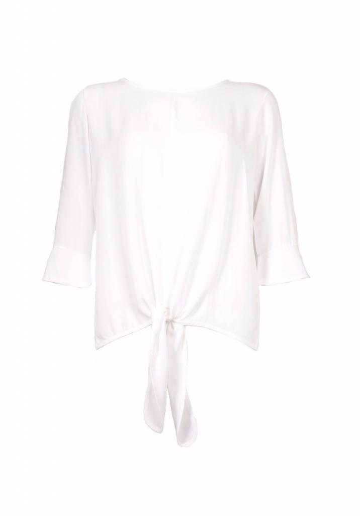 Afbeelding van 20 TO 20to blouse knoop 3/4 mouw latte 20to29 wit