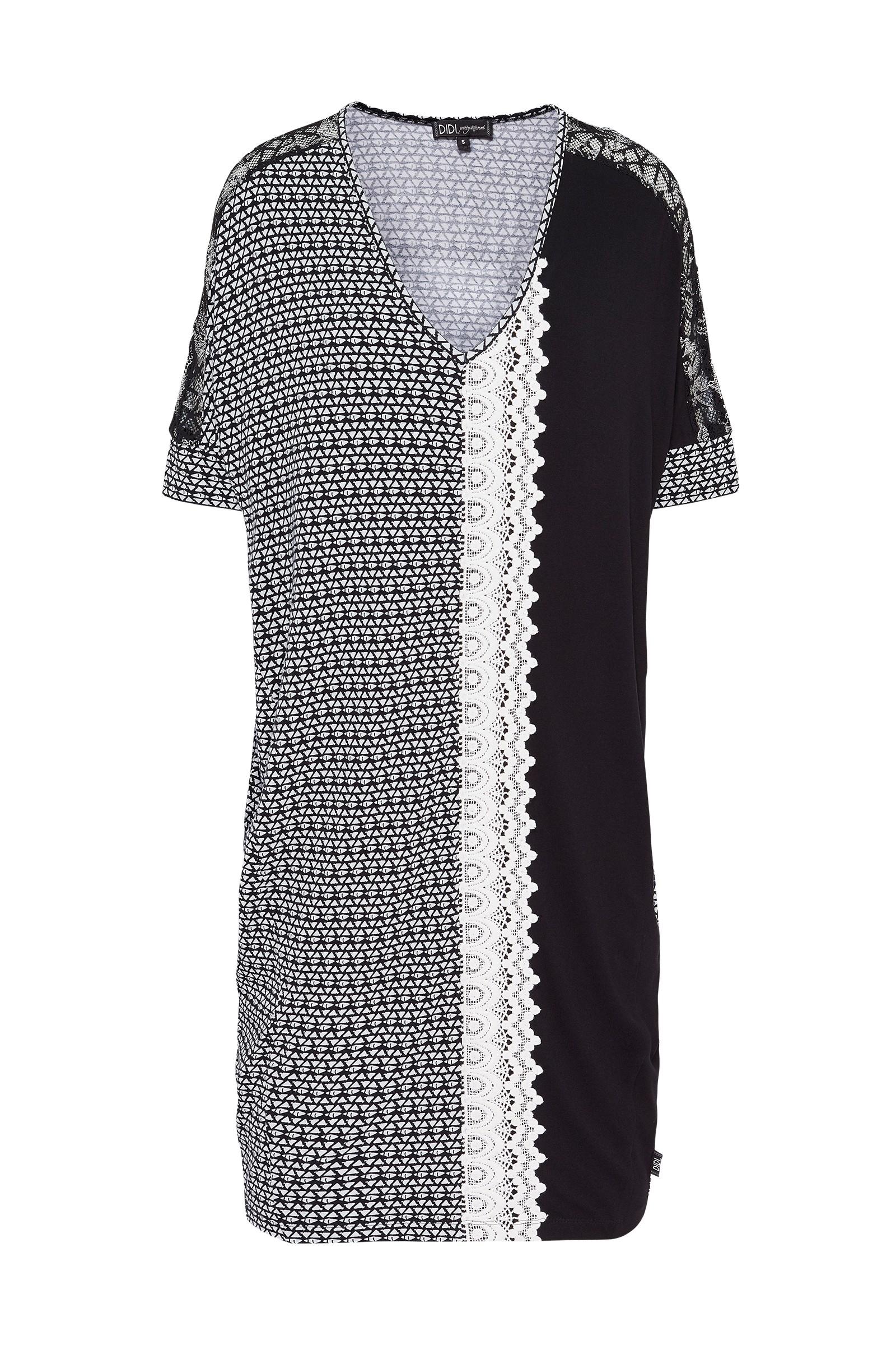 Afbeelding van DIDI Oversized jurk met kanten details wit