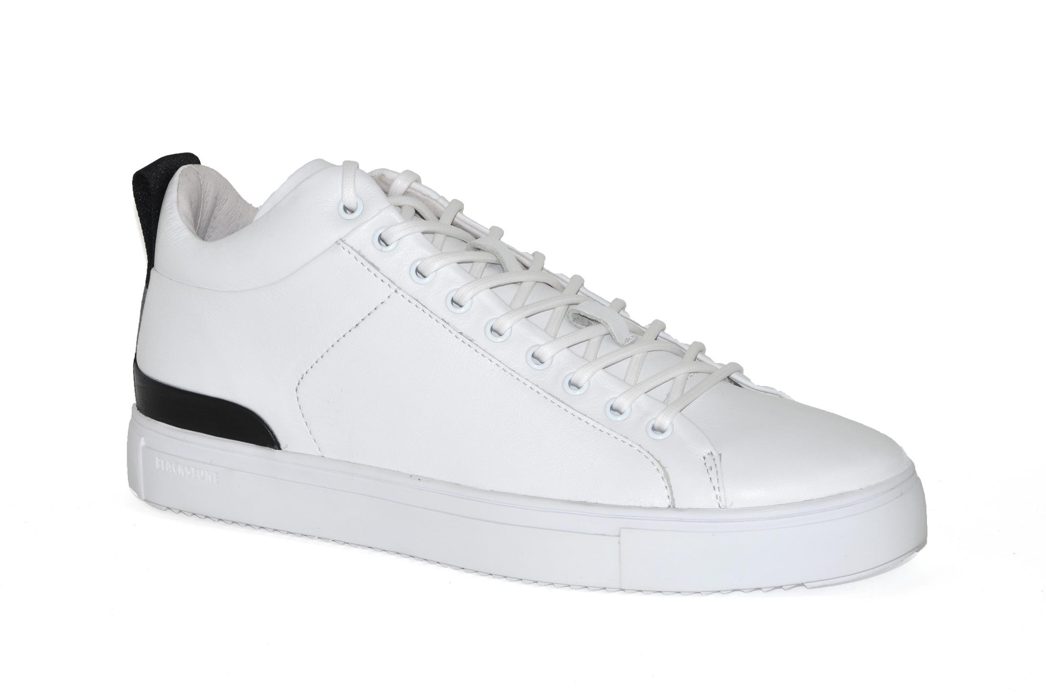 Afbeelding van Blackstone artikelnummer RM14 mid sneaker wit