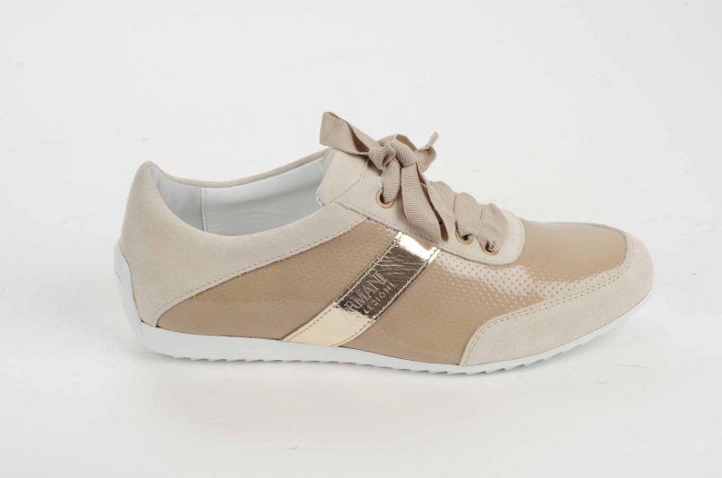 Afbeelding van Armani Jeans Dames sneakers beige