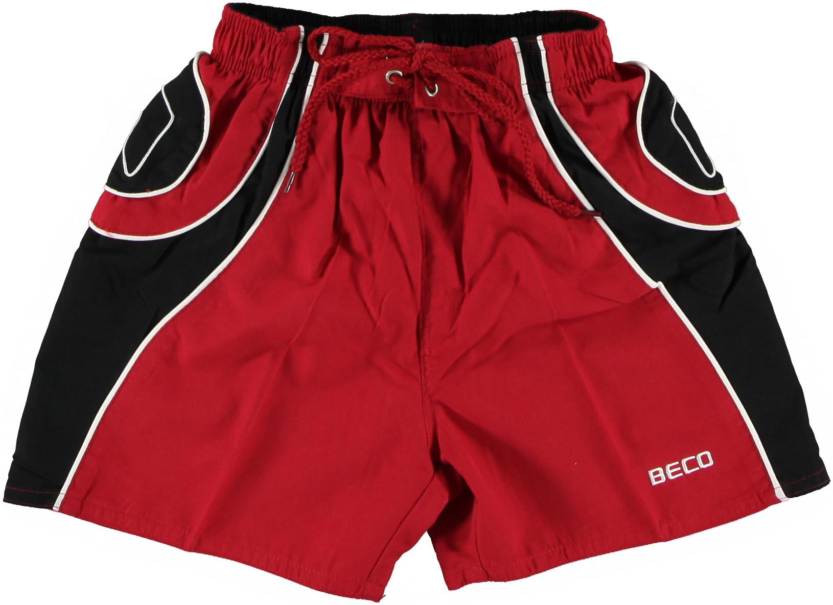 Afbeelding van Beco Rood / zwarte zwemshort in kort model met binnenslip