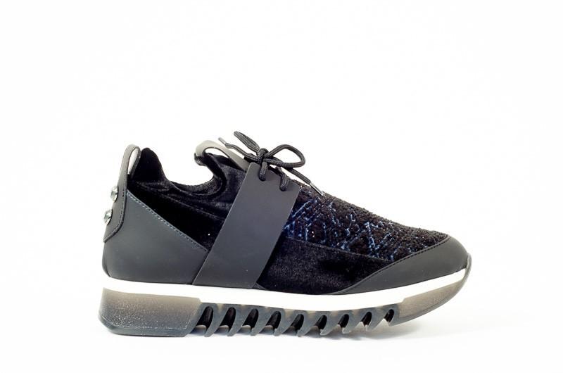 Afbeelding van Alexander Smith London Dames sneakers zwart