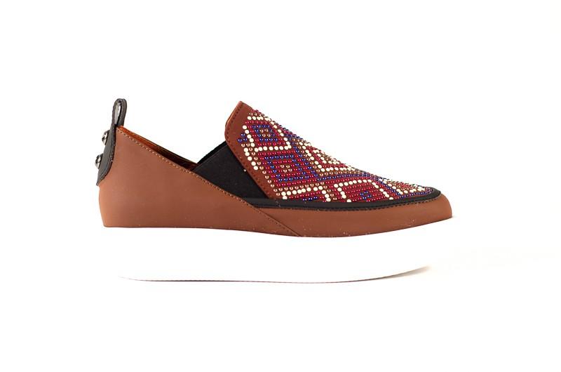 Afbeelding van Alexander Smith London Dames sneakers bruin