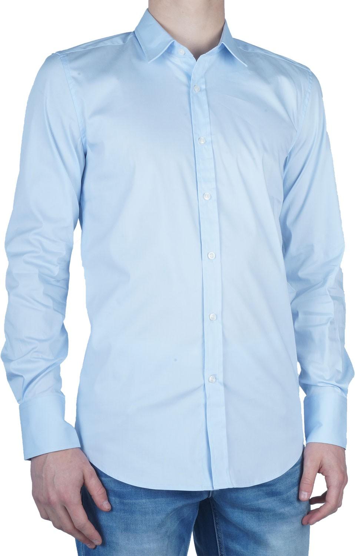 Afbeelding van Antony Morato Basic slimfit shirt light blue blauw