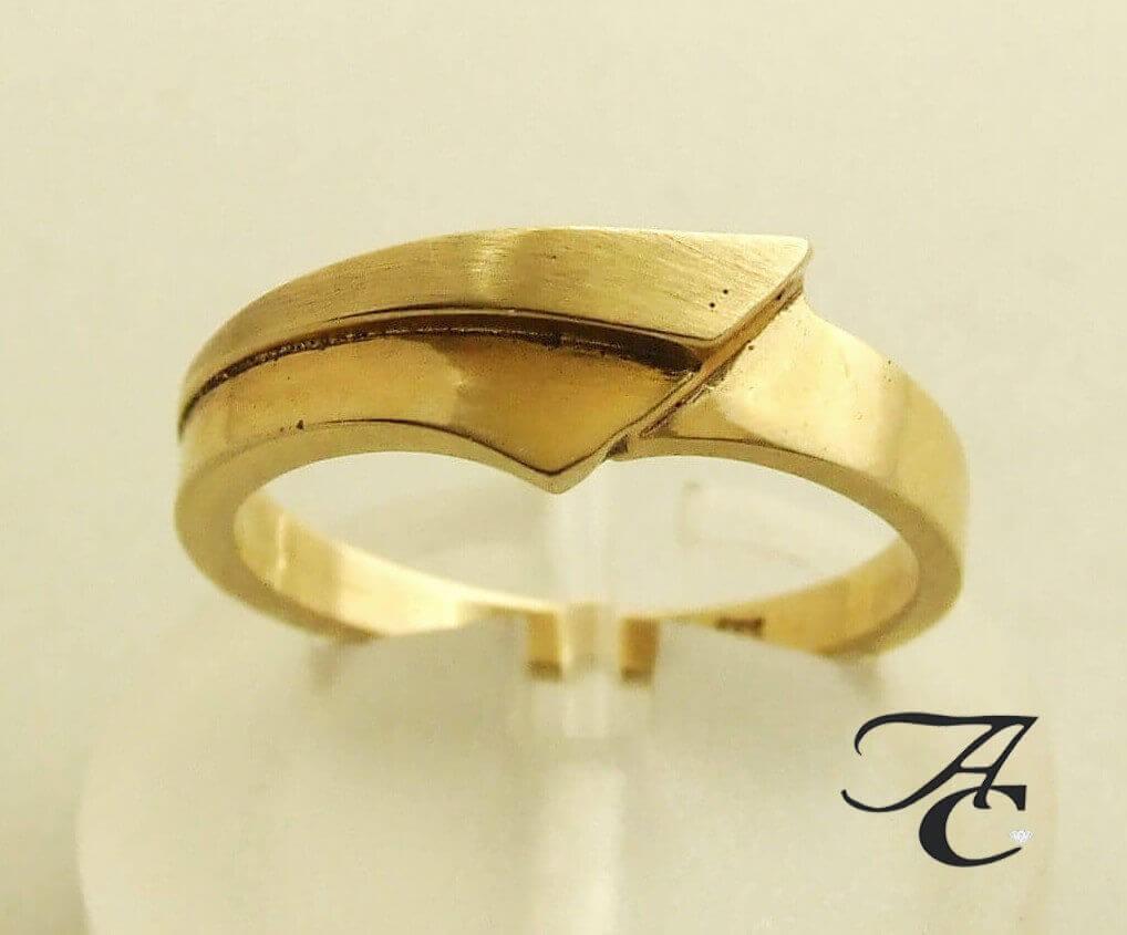 Afbeelding van Atelier Christian 14 karaat ring geel goud