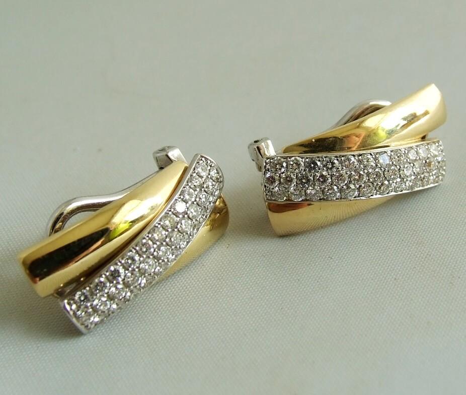 Afbeelding van Christian 18 karaat gouden oorbellen met diamant wit goud