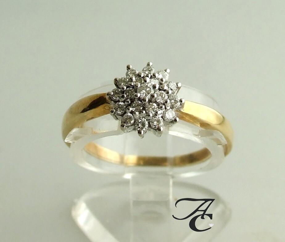 Afbeelding van Atelier Christian Bicolor ring met briljanten 0.20 ct. geel goud