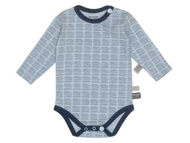 Afbeelding van Snooze Baby Romper lange mouw streep blue lichtbla blauw