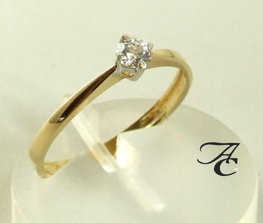 Afbeelding van Atelier Christian 14 karaat gouden ring met zirkonia geel goud