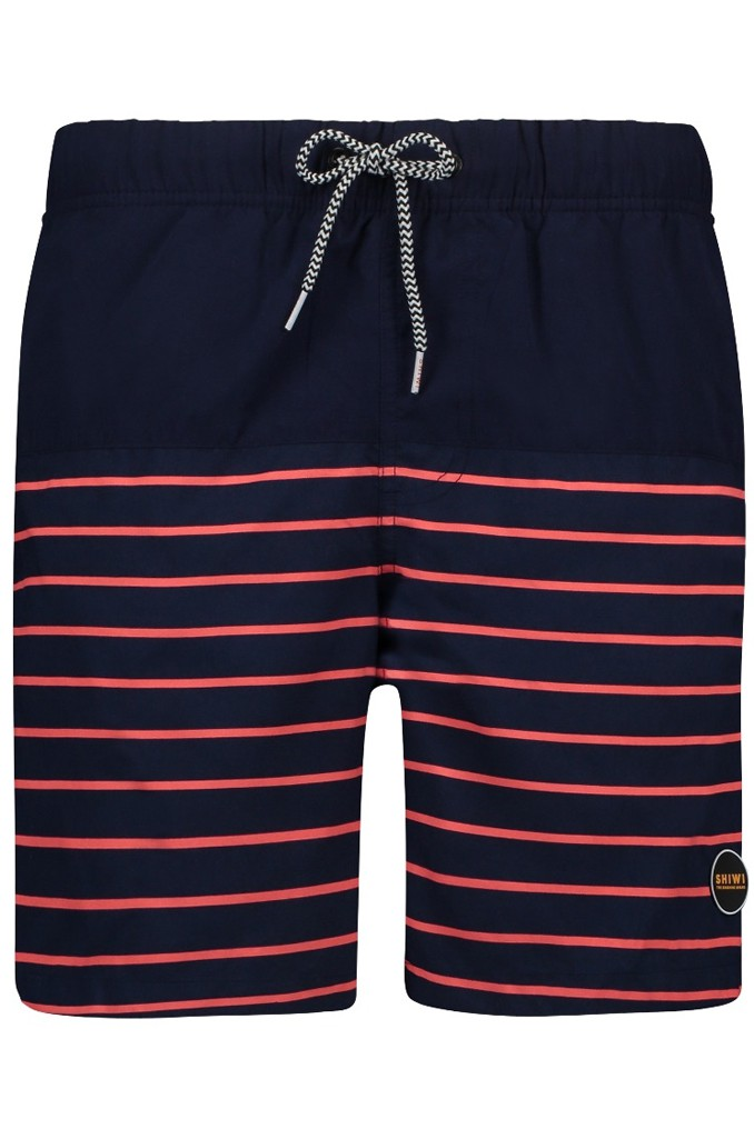 Afbeelding van Shiwi Swim short placed stripe fluo red rood