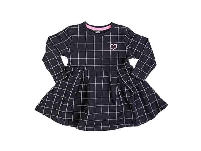 Afbeelding van Beebielove Sweat dress blocks antracite zwart