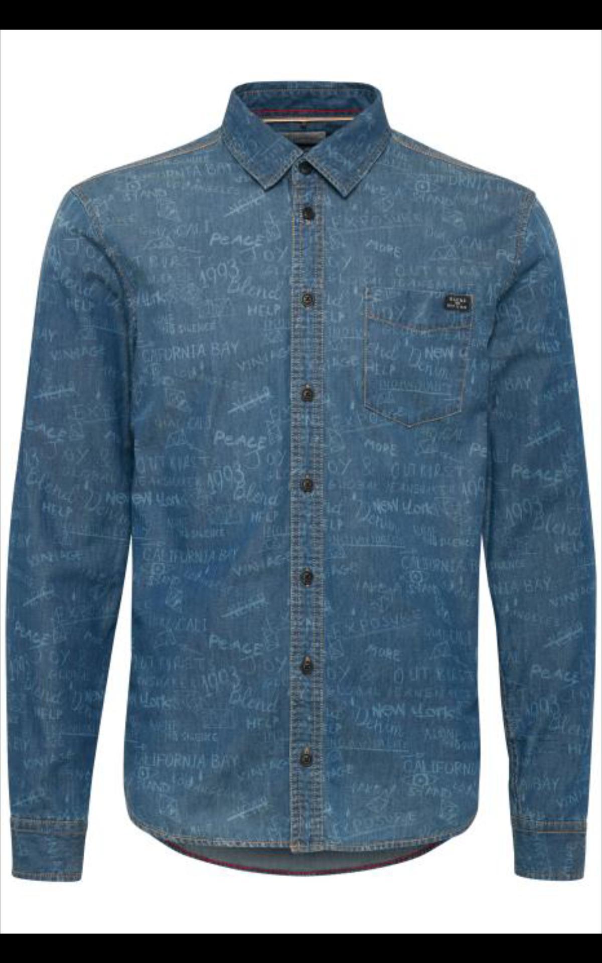 Afbeelding van Blend Overhemd blauw