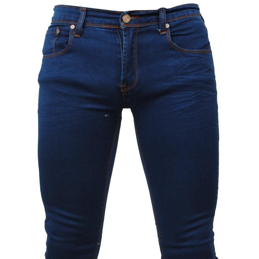 Afbeelding van Biaggio Jeans Heren jeans skinny stretch lengte 32 blauw
