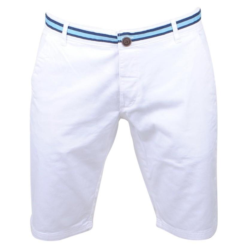Afbeelding van Biaggio Jeans Heren korte broek faniel white wit