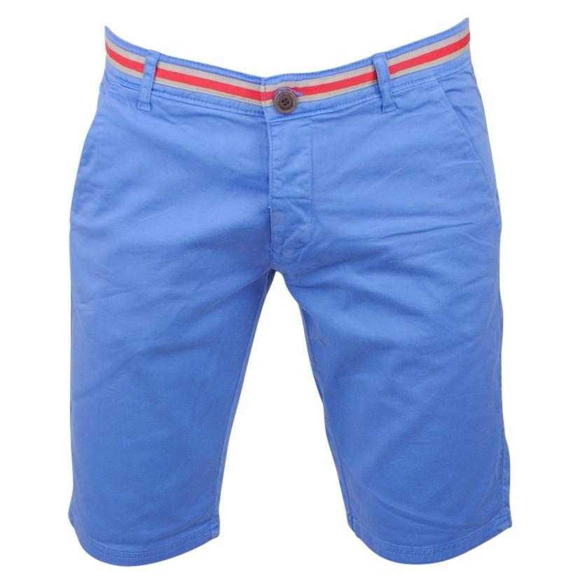 Afbeelding van Biaggio Jeans Heren bermuda faniel indigo blue blauw