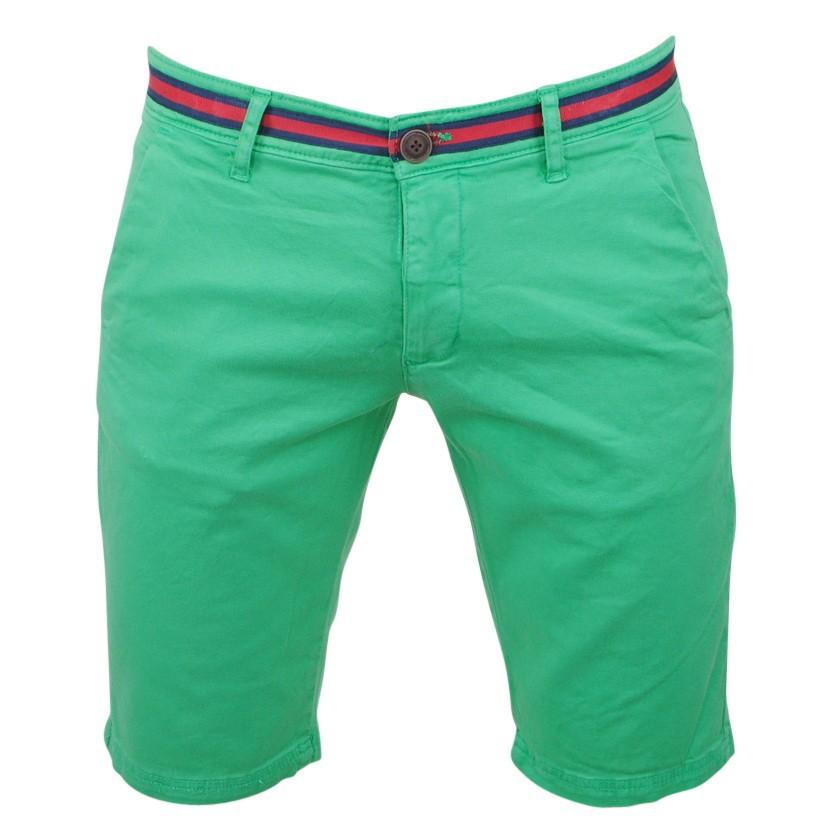 Afbeelding van Biaggio Jeans Heren korte broek faniel vert groen