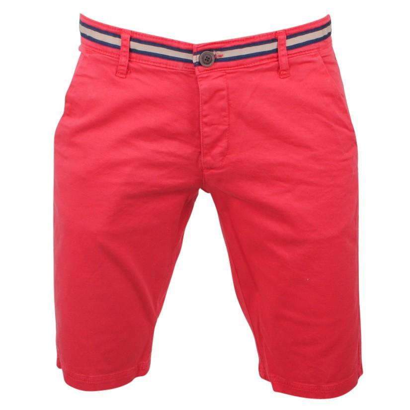 Afbeelding van Biaggio Jeans Heren korte broek faniel red rood