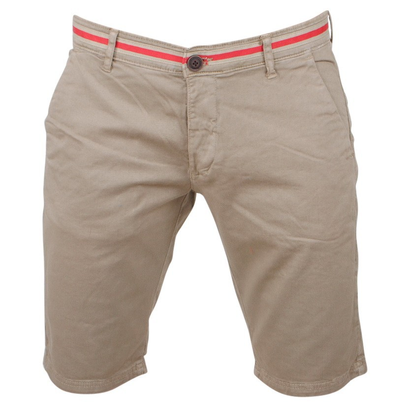 Afbeelding van Biaggio Jeans Heren korte broek faniel beige