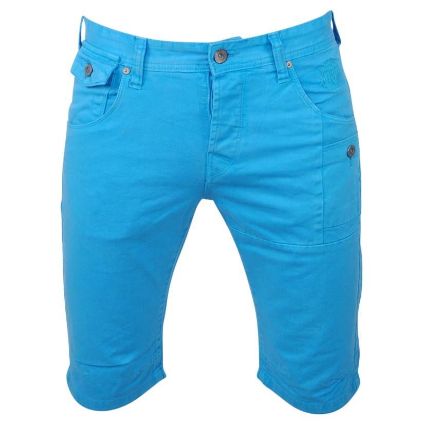 Afbeelding van Biaggio Jeans Heren korte broek framor licht blauw