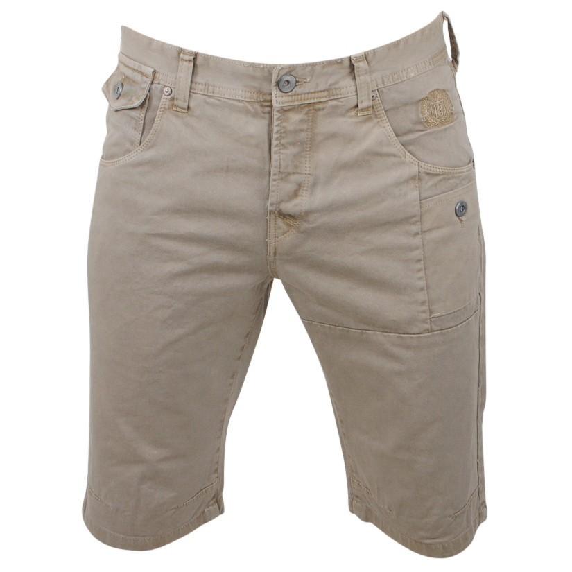 Afbeelding van Biaggio Jeans Heren korte broek framor beige