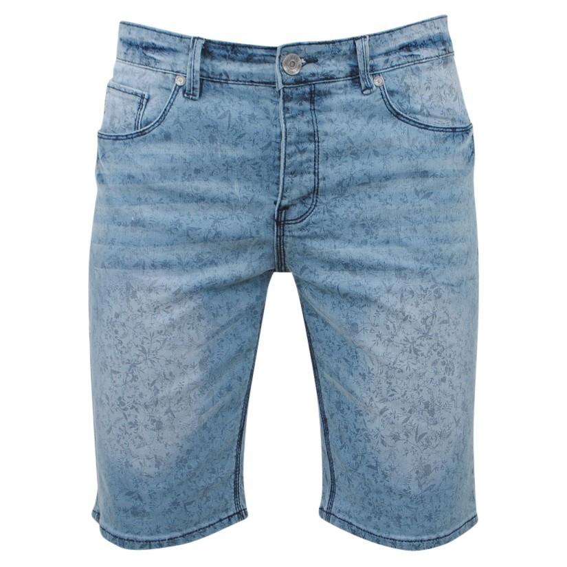 Afbeelding van Biaggio Jeans Heren korte broek feratel denim blauw