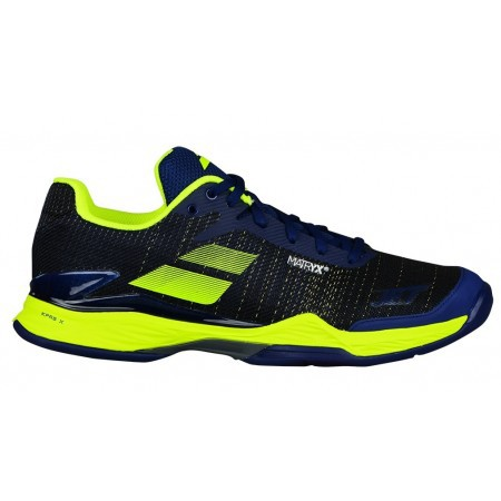 Afbeelding van Babolat Tennisschoen jet mach ii all court men estate blue fluo yellow blauw
