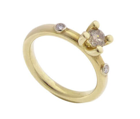 Afbeelding van Atelier Christian 14 karaat gouden ring geel goud