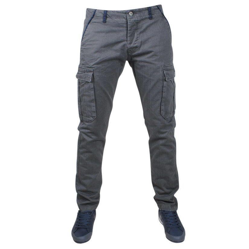 Afbeelding van Biaggio Jeans Trendy heren worker lengte 34 tigom grijs