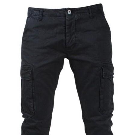 Afbeelding van Biaggio Jeans Trendy heren worker lengte 34 tigom zwart