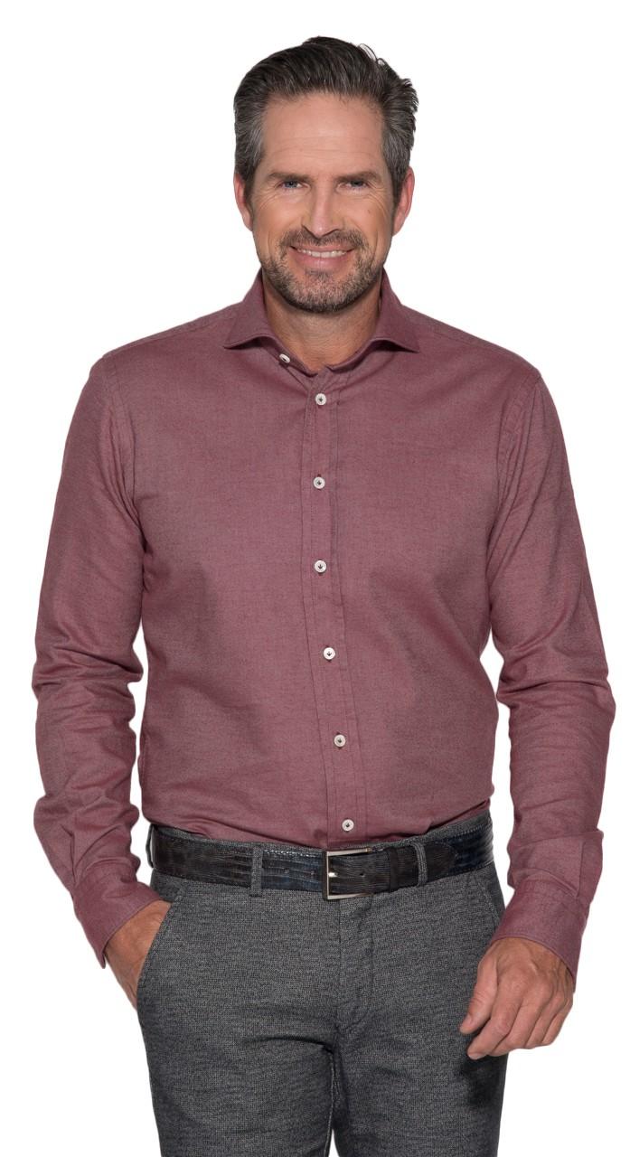 Afbeelding van Artu Napoli Casual shirt met lange mouwen rood