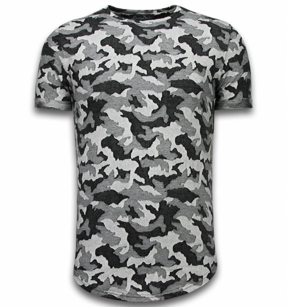 Afbeelding van Berry Denim Casual camouflage pattern grijs