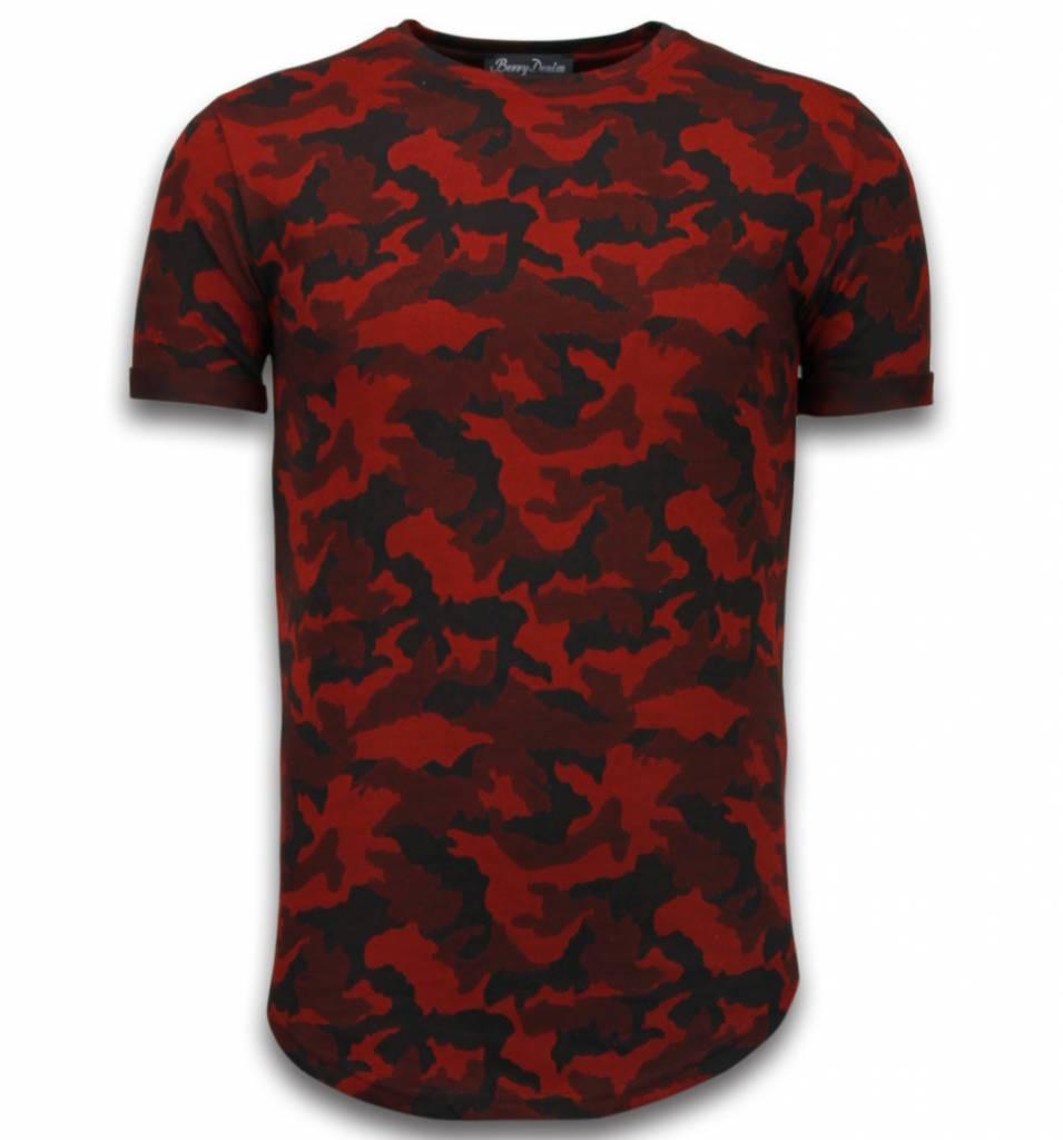 Afbeelding van Berry Denim Casual camouflage pattern rood