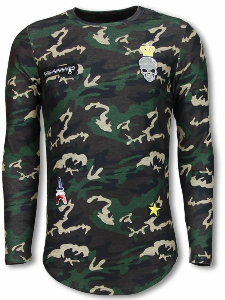 Afbeelding van Berry Denim King of army shirt