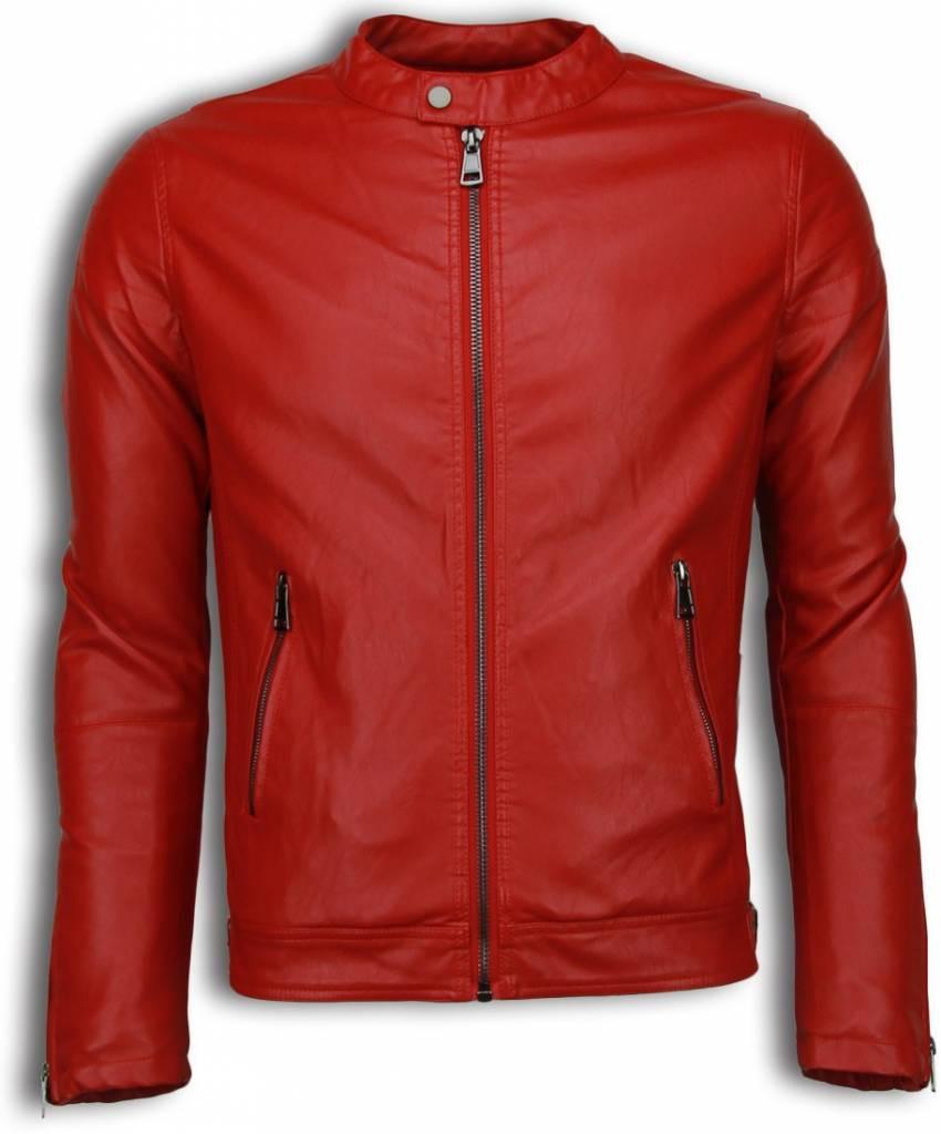 Afbeelding van Enos Imitatie leren jas rood