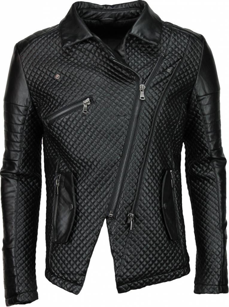 Afbeelding van Lure-2 Imitatie leren jas zwart