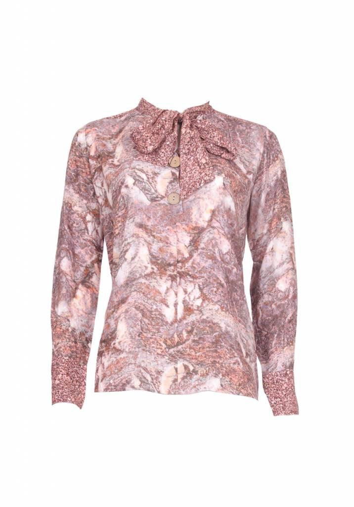 Afbeelding van 20 TO 20to blouse strik stone cipria roze