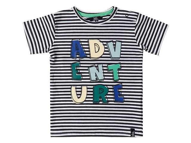 Afbeelding van Beebielove Shirt korte mouw gestreept adv zwart