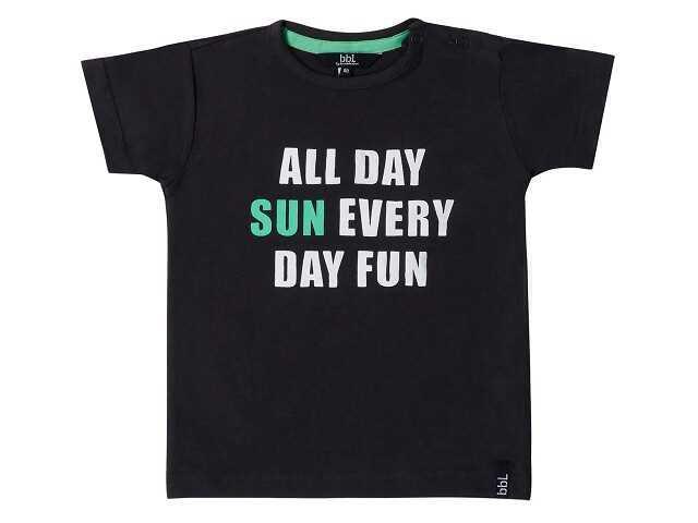 Afbeelding van Beebielove Shirt korte mouw all day zwart
