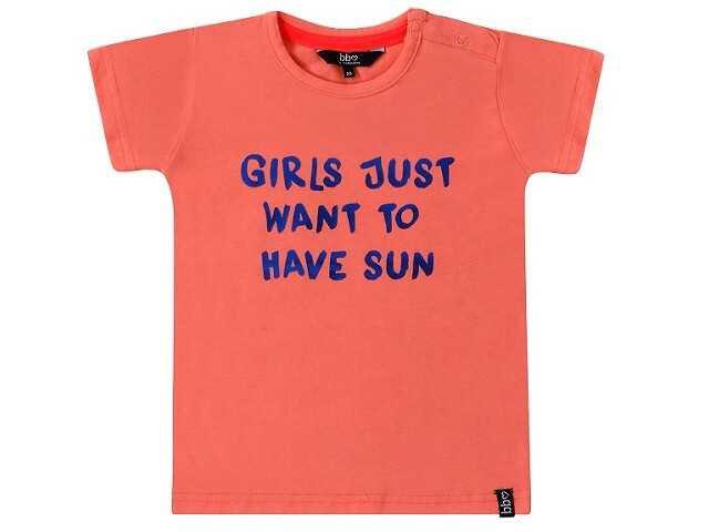 Afbeelding van Beebielove Shirt korte mouw just sun coral rood