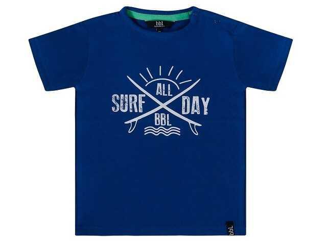 Afbeelding van Beebielove Shirt korte mouw surf all day blauw